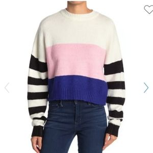 FREE SHIPPING LOVE BY DESIGN STRIPE SWEATER